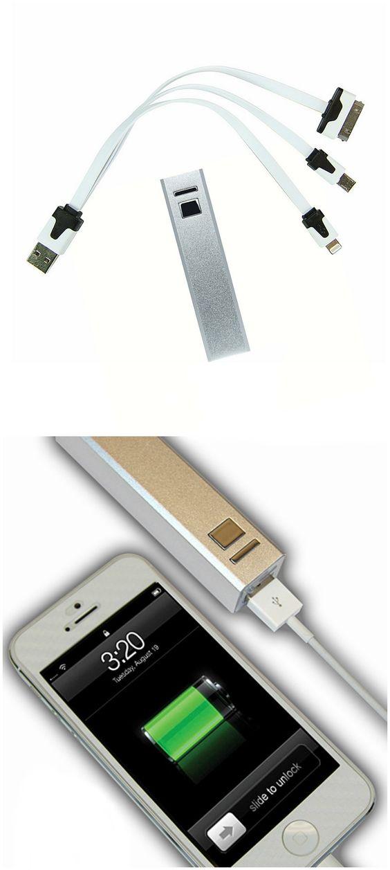 Silver 3,000-mAh Powerbar Charger Set // great stocking stuffer!
