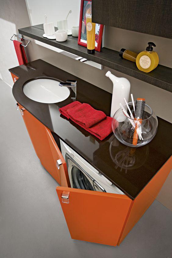 Bagno play con finitura laccato lucido rosso arancio rl 2 http ...