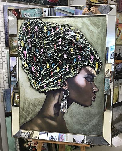 Karahan Cerceve Https Www Karahanresim Com Tablo 5046 Renkli Baslilkli Afrikali Kiz Tablosu Html Tablolar Zenci Resimleri Siyah Sanat