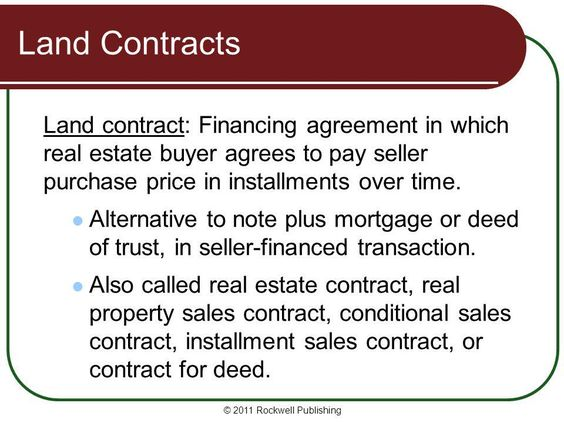 A #landcontract is a deal between a seller and buyer of real - land contract agreement