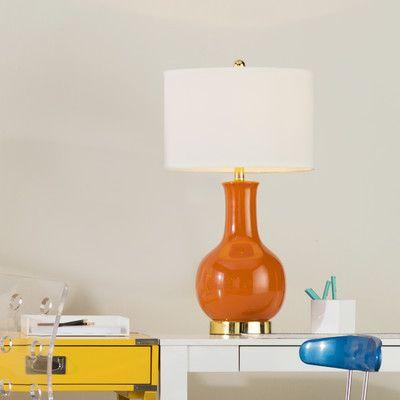 "Brayden Studio Montag 27.5"" Table Lamp Finish: Orange"