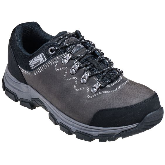 Magnum Boots 5554 Mens Low Steel Toe Charcoal Waterproof Athletic Shoes