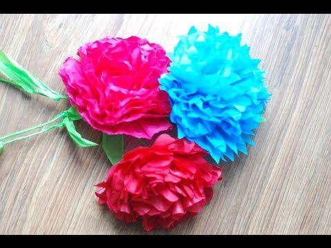 Jak Zrobic Kwiaty Z Bibuly How To Make Tissue Paper Flowers Youtube Tissue Paper Flowers Paper Flowers Handmade