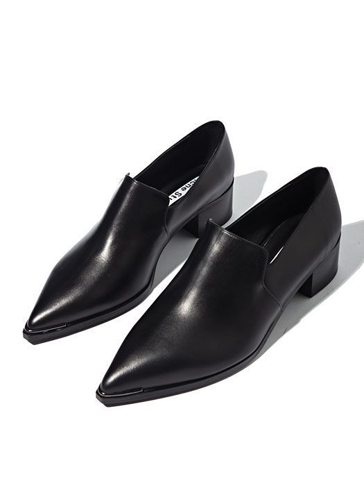 Acne Womens Jaycee Lamb Leather Loafer Shoes