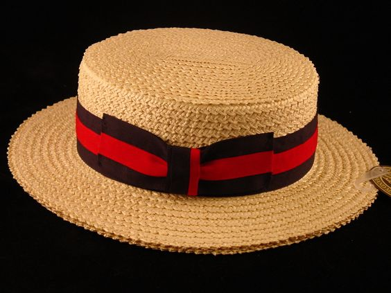1920/'S BARBER SHOP SET STRAW BOATER HAT BOW TIE BRACES AND ARMBANDS OLD ENGLAND