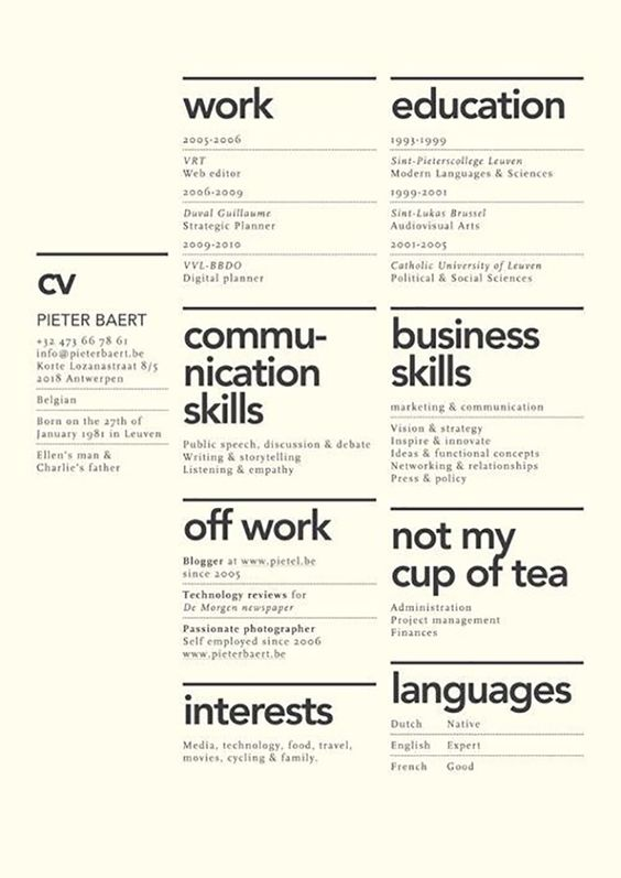 Curriculum Vitae By Anton Yermolov Data Telling Pinterest   Digital Media  Resume  Resume Design Tips