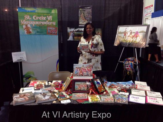 """""""Here I am at the VI Artistry Expo last night at my both in St. Thomas VI. Meeting lots of wonderful people. In St Thomas stop by today, Saturday from 8:00 am. Have a great day!"""" ~ Denise Bennerson"""