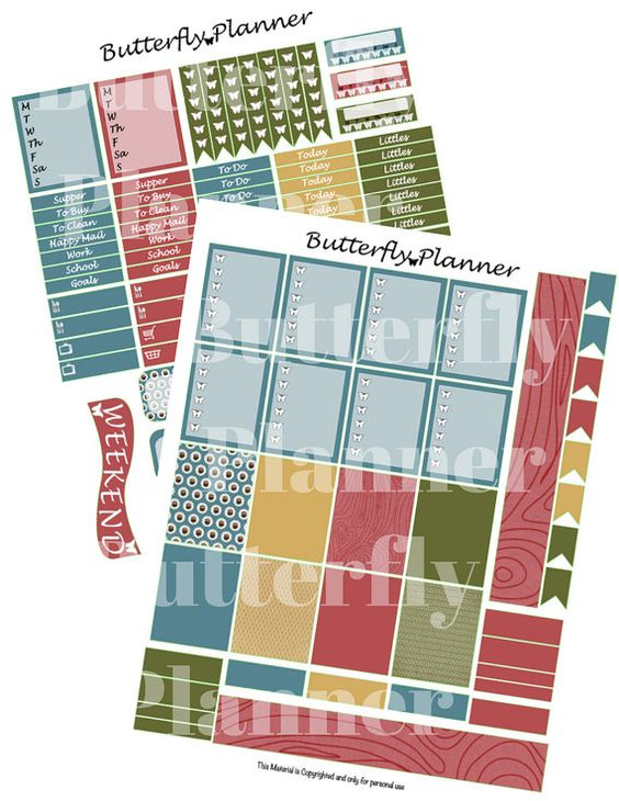Sweater Weather Printable Planner Stickers by ButterflyPlanPrints