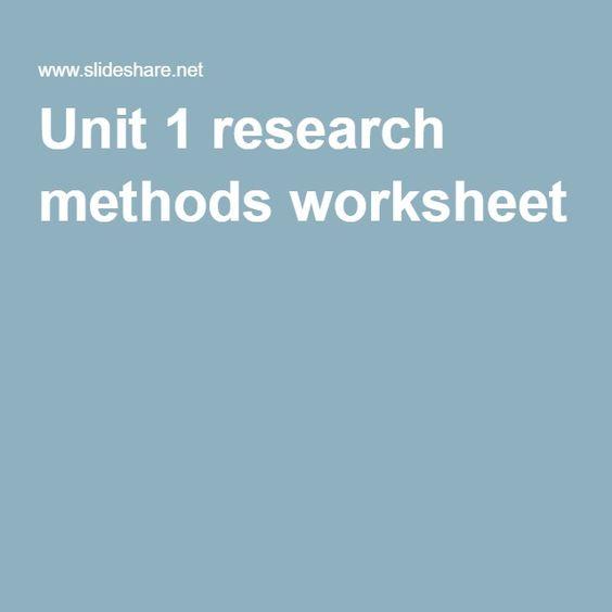 Unit 1 research methods worksheet RESUME WRITING, TEMPLATES - resume writing worksheet