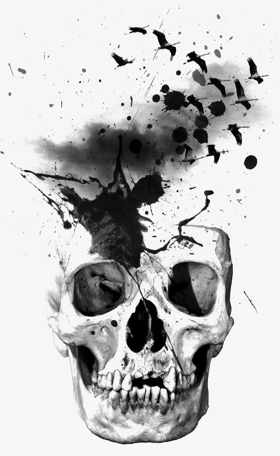 Skull Splash Skulls Drawing Skull Artwork Skull Art