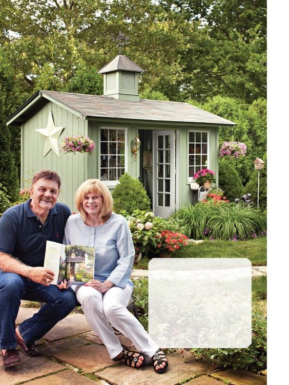 Would love to paint my shed to match my house and decorate it.: Outdoor Ideas, Cottage Ideas, Garden Ideas, Ashlyn S Garden, Outdoor Spaces, Office Bhg, Craft Ideas, Crafting Office Space, Bedroom Ideas