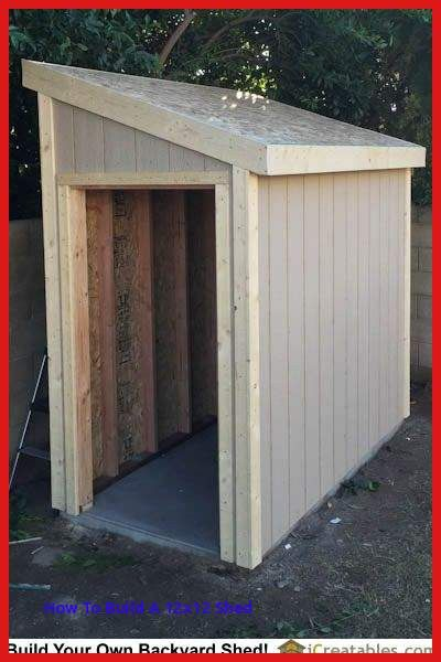 Diy Wood Storage Shed Fresh Lean To Shed Plans With Roof Sheeting Installed The Fascia Trim Diy Shed Plans Shed Design Building A Shed