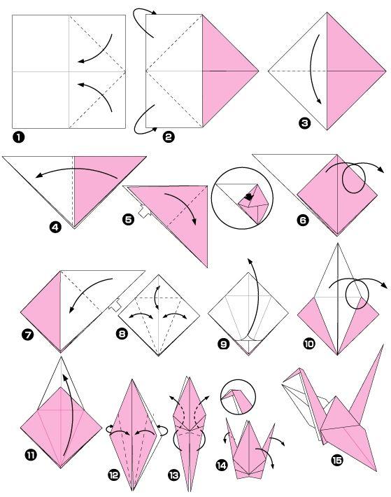tuto origami cigogne