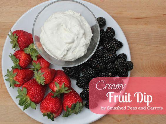 Creamy fruit dip, super easy: Recipes Food, Backwards Desserts, Creamy Fruit, Recipes Dips, Fruit Dips, Carrots Creamy, Try Dips Sweet, Fruit Dip Recipes, Fruit Salad Desserts