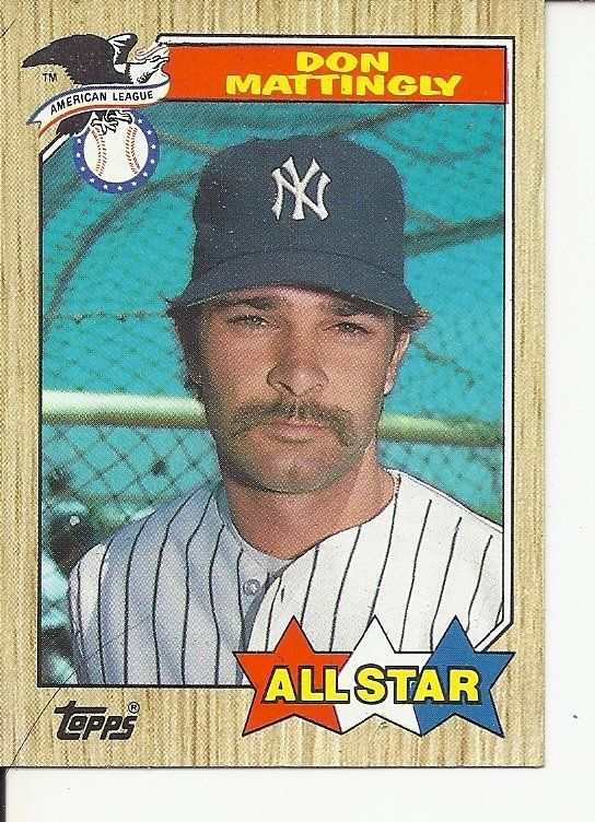 Bs 1 1987 Topps 606 All Star Don Mattingly Tm Don Mattingly Baseball Trading Cards Baseball Cards