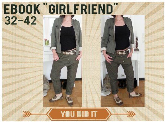ebook schnittmuster girlfriend 32 42 hose pinterest products boyfriends and girlfriends. Black Bedroom Furniture Sets. Home Design Ideas