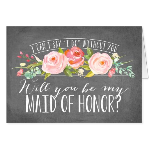 Will You Be My Maid of Honor | Bridesmaid