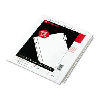 Oversized Reinforced Insertable Index, Clear 8-Tab, 9-1/4 X 11, White