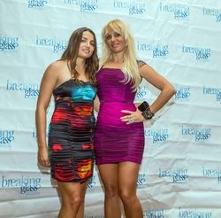 Milene Decagny, Sabrina A. Parisi attending the 2015 American Film Market (AFM) - Kitesurfing TV Launch Party with Breaking Glass Pictures held at the Lounge at 1733 Ocean Avenue in Santa Monica, CA, USA on 11/08/2015 | GVA-000401