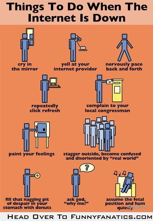 Things to do when the Internet is down...