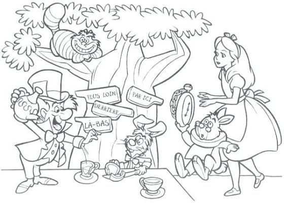 - Alice In Wonderland Tea Party Coloring Coloring Pages, Mad Hatter Tea  Party, Free Printable Coloring Pages