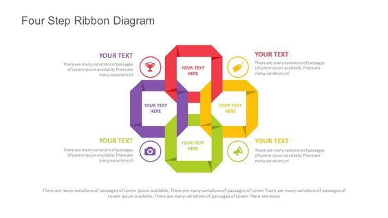 Ribbon Diagram Template for PowerPoint. Fully editable instantly downloadable…