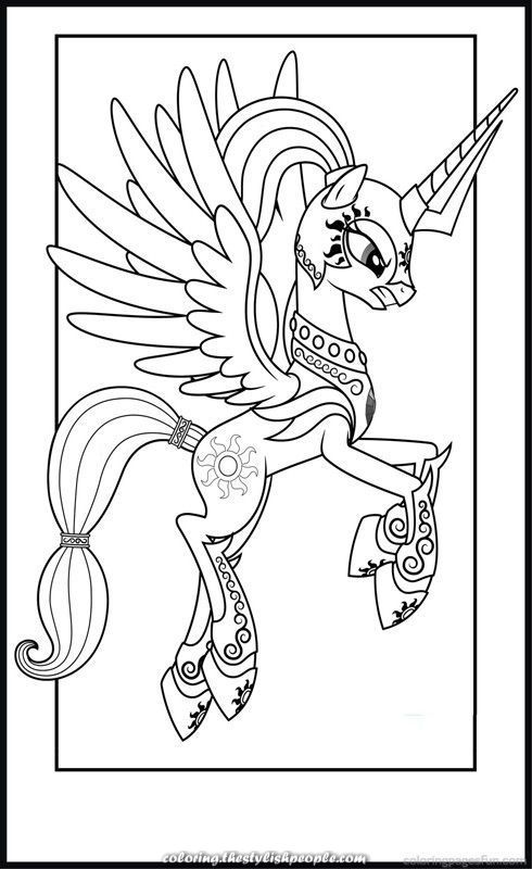 Amazing Princess Celestia Coloring Pages Celestia Coloring