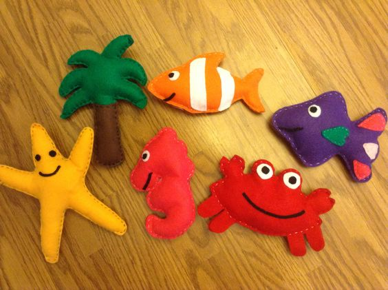 Felt Under the Sea rattle collection Please like my FB page  Little Blessings Gifts