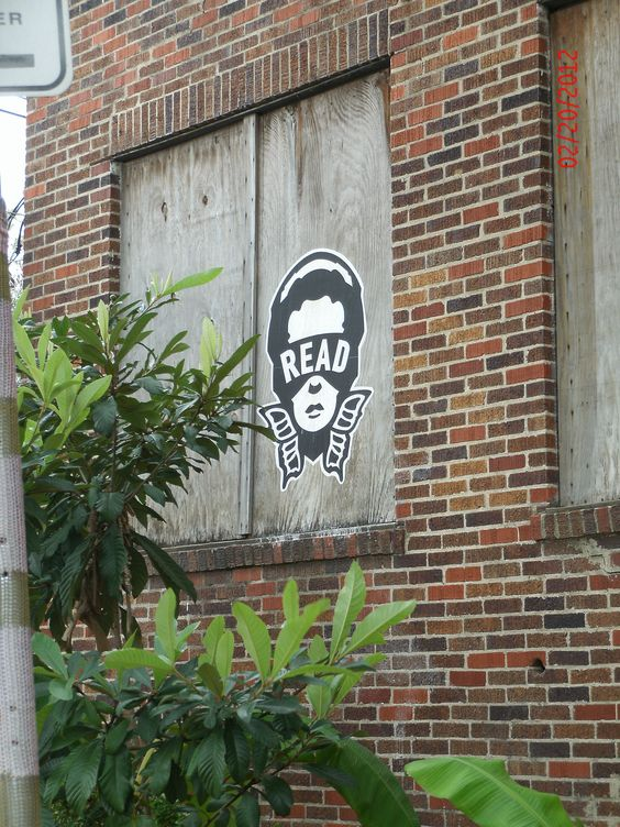"""Not your usual sort of graffiti, but I like the Superhero named """"Read"""""""