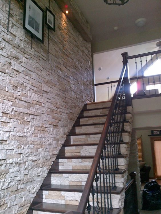 AirStone, for that dramatic wall of stone going up the staircase that I want.  It's only $50 for 8 sqft, which is much cheaper than real or faux stone.