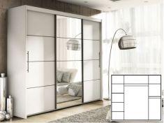 Šatní skříň s posuvnými dveřmi INOVA 250 bílá
