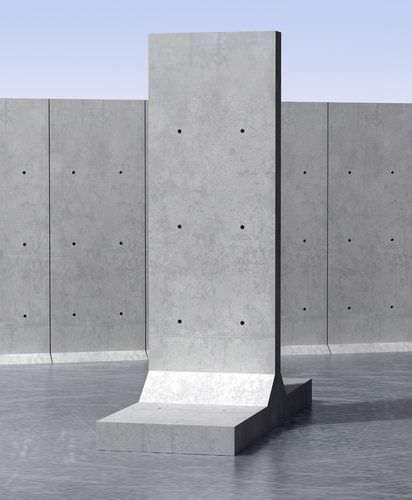 mur de sout nement pr fabriqu en b ton arm unit pr fabriqu e t milbury architecture. Black Bedroom Furniture Sets. Home Design Ideas