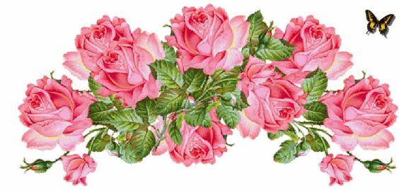Flores de Primavera, flores, guirnalda de flores, rosas
