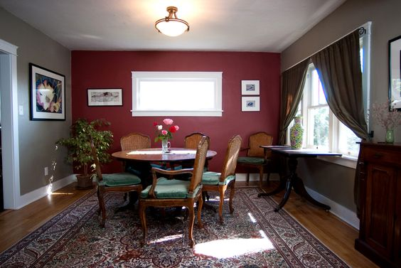 burgundy walls google search dining room pinterest
