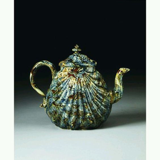 Staffordshire, England (made)  Date: 1740-1760 (made)  Artist/Maker: Unknown (production)  Materials and Techniques: Different coloured earthenwares (agate ware), with a lead glaze
