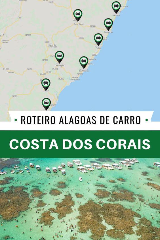 Costas dos Corais, a segunda maior barreira de corais do mundo em um roteiro em Alagoas! Conheça o paradisíaco litoral Norte do estado! 135 km e 8 municípios pra você desfrutar de piscinas naturais, praias de águas calmas e cristalinas e muito mais!