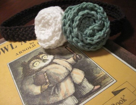 Double Rose Headband by OwlsNestCrochet on Etsy, $8.50