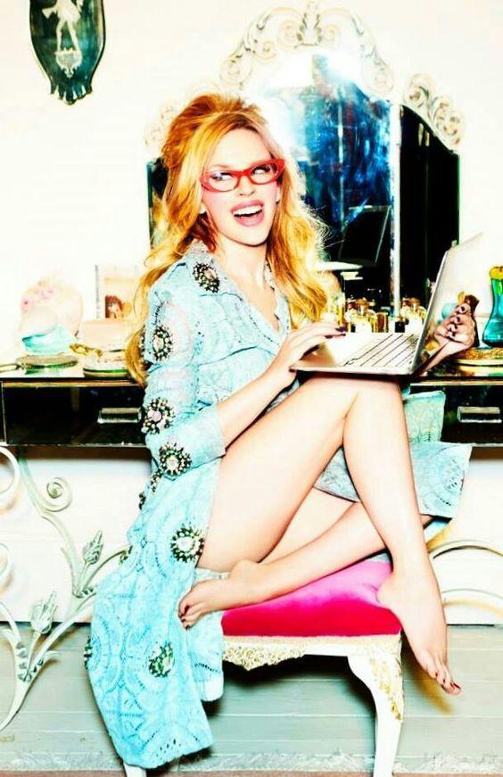Kylie Minogue Stylist Magazine  Photography By Ellen Von Unwerth #KM2014   Fashion Editorial