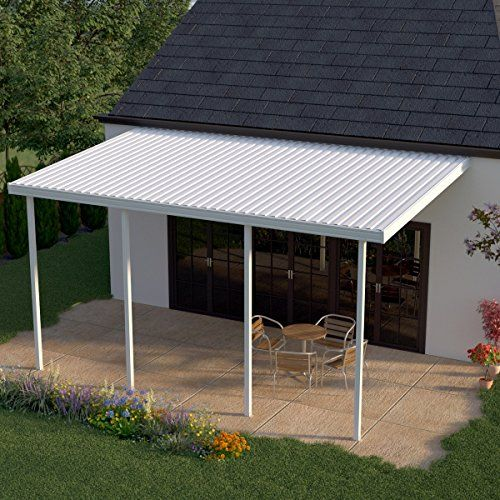 Heritage Patios 22 Ft X 12 Ft White Aluminum Patio Cover 4 Posts 10 Lb Non Snow Areas Read More At Patio Awning Aluminum Patio Covers Carport Patio