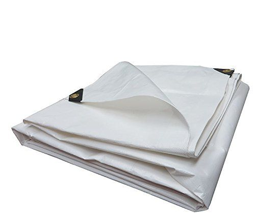 Heavy Duty Tarpaulin All Purpose Reinforced Canopy Poly Tarps 6oz 12 Mil White 16 X 24 Feet Learn More By Visiting The Image Link Heavy Duty Tarps Tarpaulin