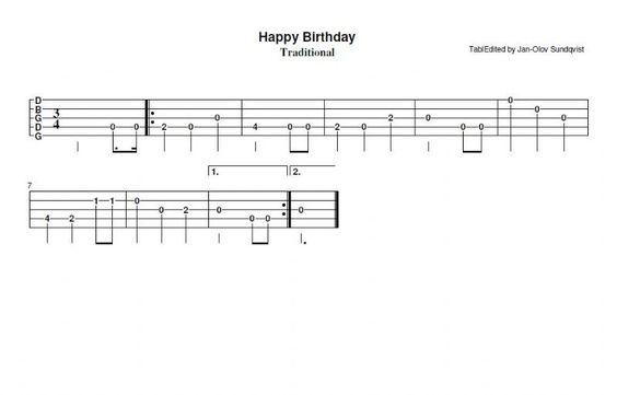 Banjo : banjo tablature for happy birthday Banjo Tablature For as ...