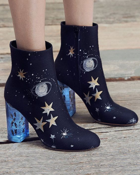 Valentino Space-Embroidered Satin Booties