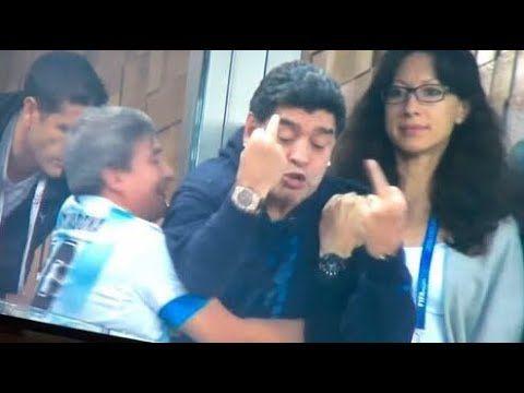 Diego Maradona Reaction To World Cup 2018 Diego Maradona World Cup World Cup 2018
