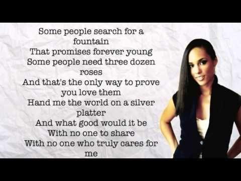 Alicia Keys If I Ain T Got You Lyrics Youtube With Images