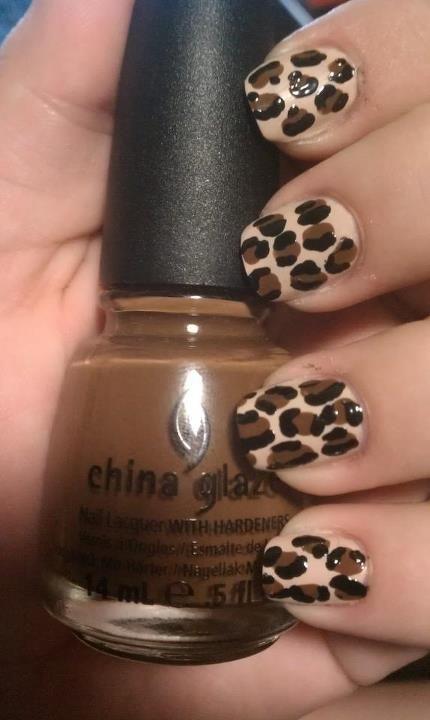 Mahogany Magic leopard spots by Polished by Maddie #nails #nailart