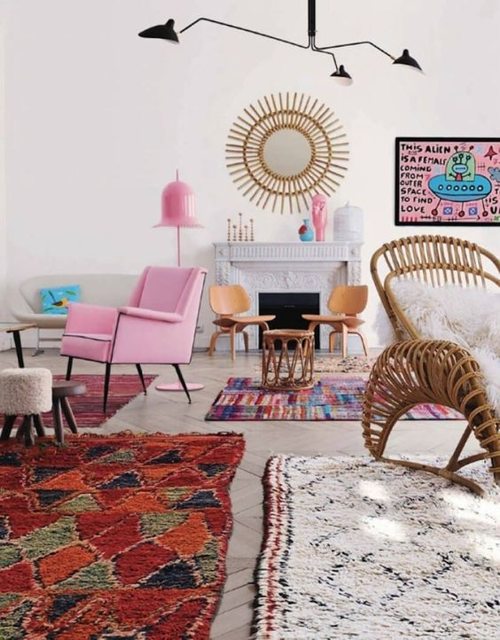 How to Mix Multiple Rugs In The Same Room: