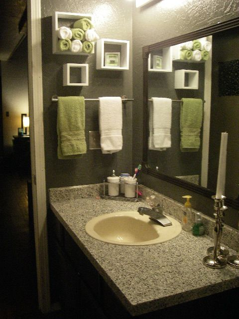Idea inspiration for bathroom deep brown for the walls for Brown and green bathroom designs