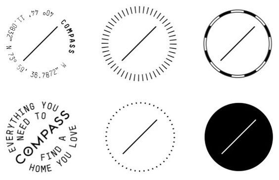 New Name, Logo, and Identity for Compass done In-house
