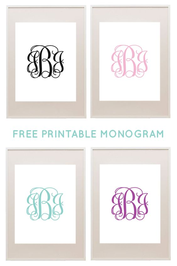 Free printable monogram free printable and monograms on pinterest for Free monogram printable