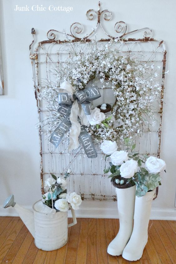 Junk Chic Cottage: Winter Garden Decor: